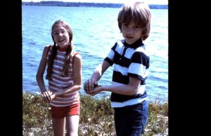 Jeff and I at the Sandbanks, ca. 1972.